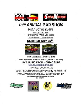 18th Annual Car Show & MSRA Voting Event - Events with Cars