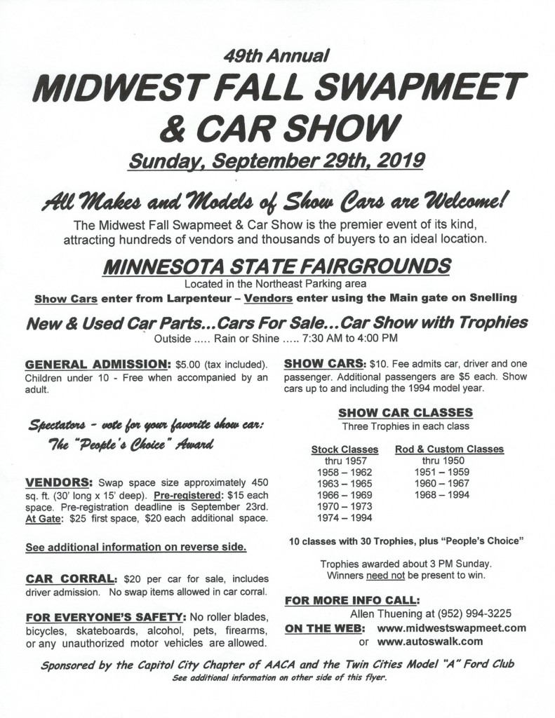 49th Annual Midwest Fall Swapmeet & Car Show