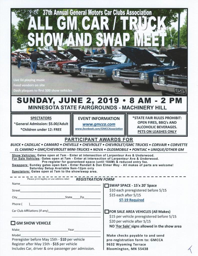 37th Annual All GM Car / Truck Show and Swap Meet