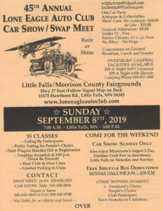 45th Annual Lone Eagle Auto Club Car Show / Swap Meet