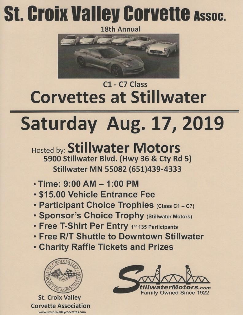 18th Annual CORVETTES at STILLWATER