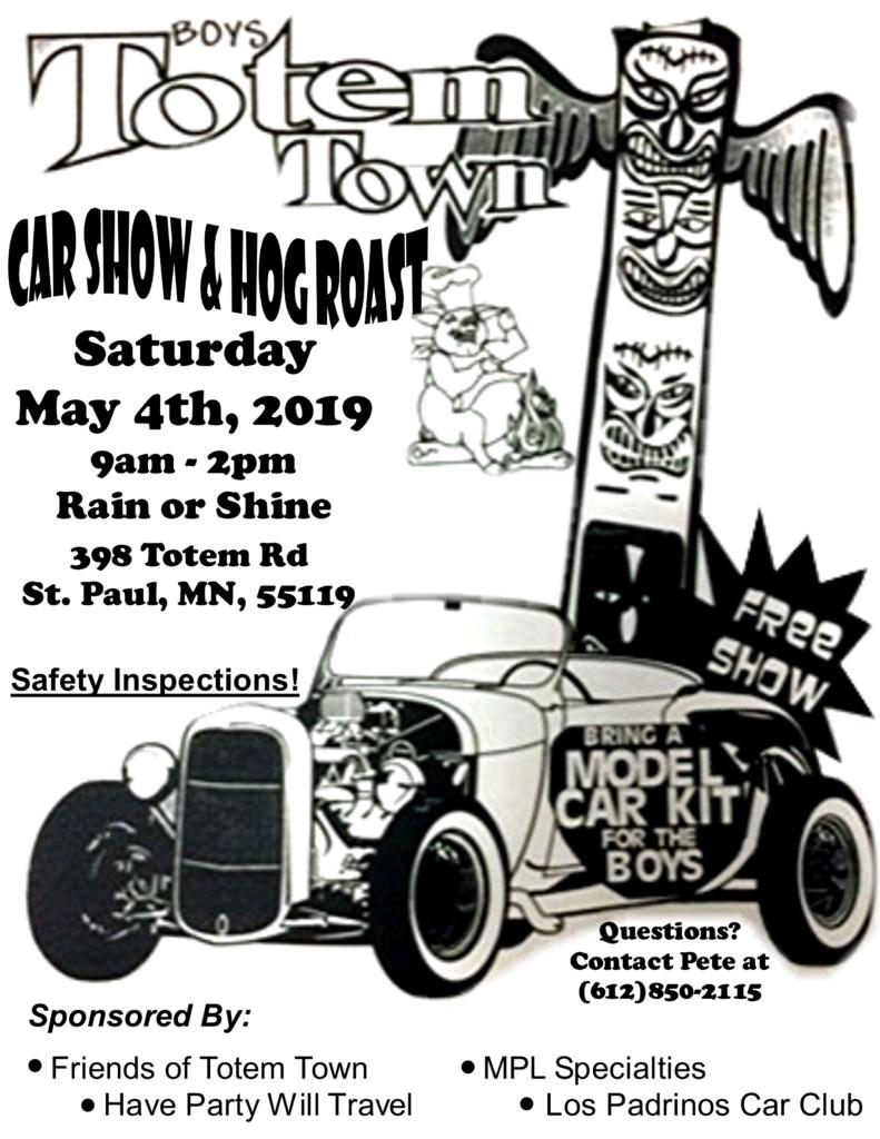 Boys Totem Town Car Show and Hog Roast
