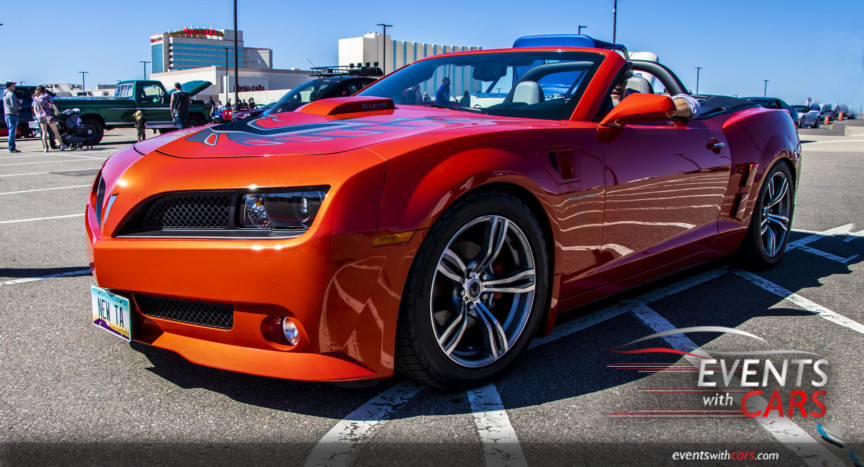MN Cars & Coffee Sunset Orange Trans AM