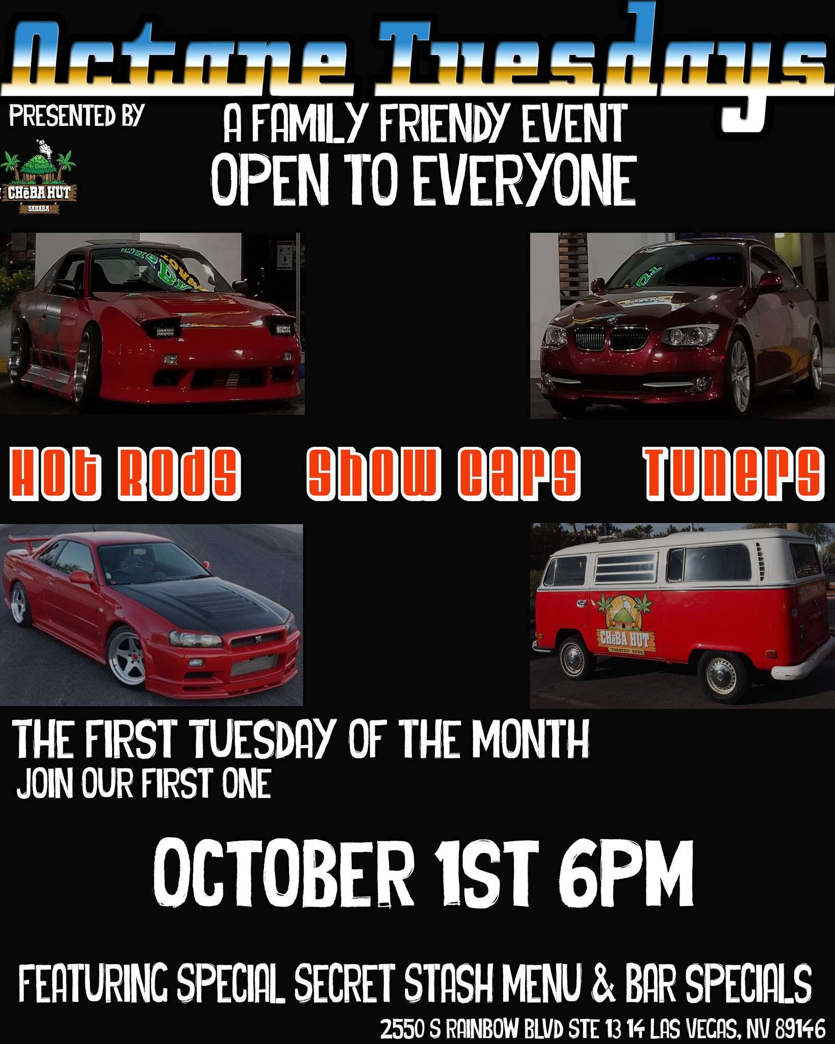 Las Vegas August 2020 Events.Octane Tuesdays Events With Cars