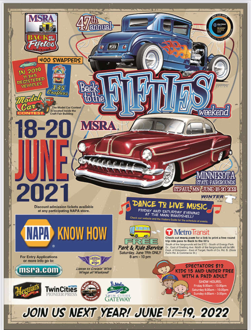 MSRA Back to the 50's Weekend 2021